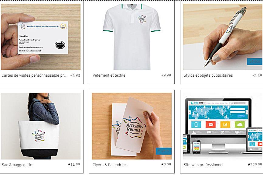 Boutique Artisans Reunis Communication Cartes De Visite Site Web