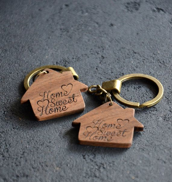 Home Sweet Home Sign Wooden Engraved Key Chain Housewarming gift favor New  Home decor Home accessories Gift for Him Her Friend Neighbor 3ca686e8390e