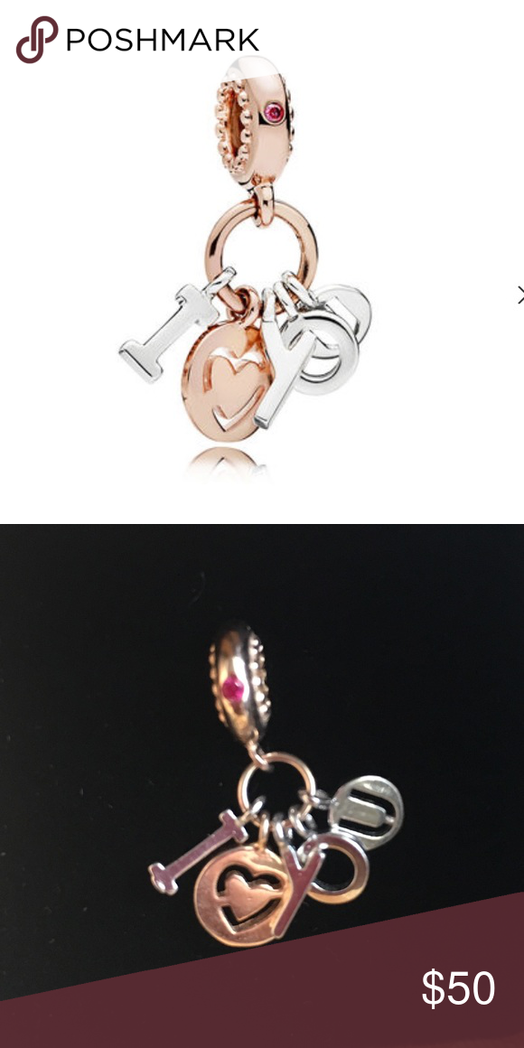 1d0004fb7fb97 PANDORA 🌹 ROSE I Love You Dangle Charm Expertly crafted from ...