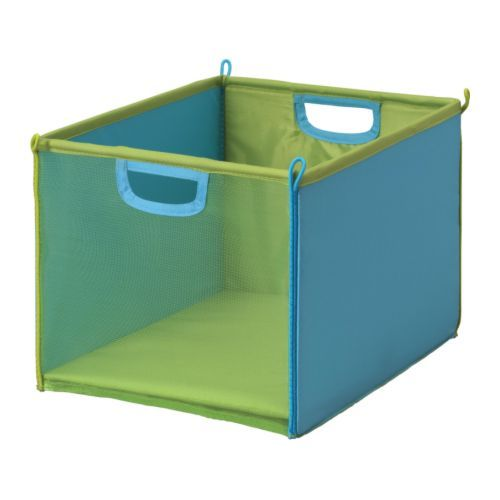 5 Ner Storage Bins From Ikea For Storing Little Baby Toys On The Bottom Shelf Of Bookcase