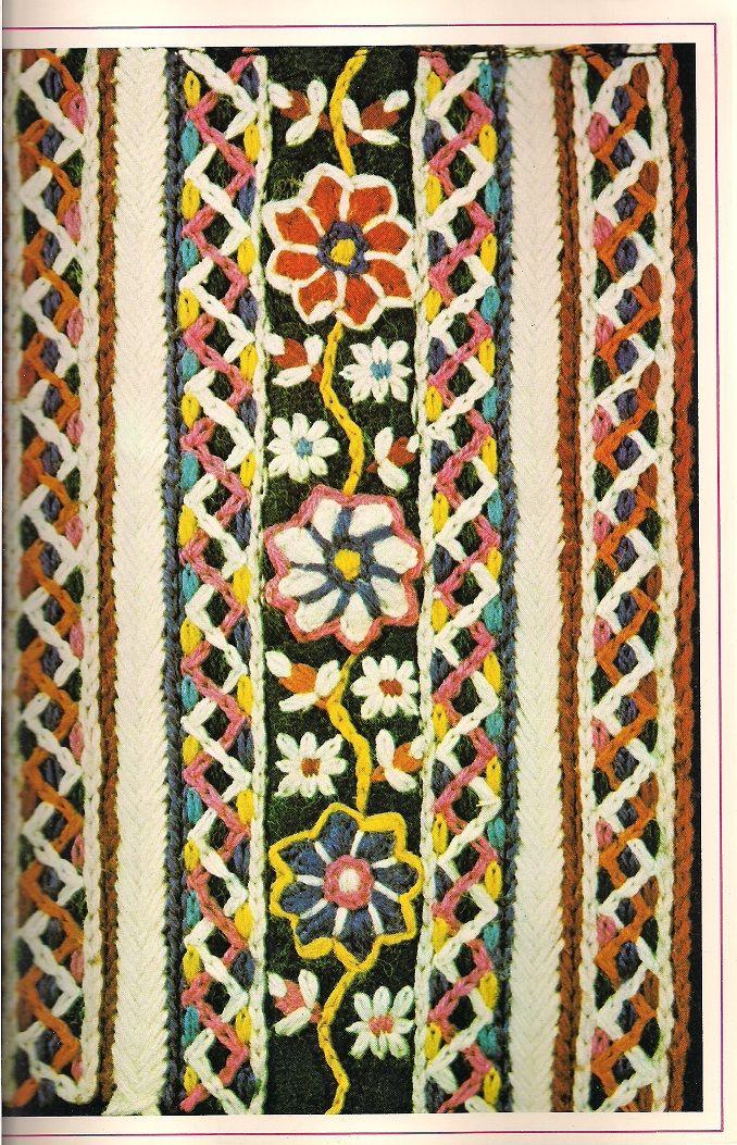 Detail Of Marker Roses Rijglijfje Scanned From The Creative Craft Magazine Bijvoorbeeld For Example Februar Folk Design Folk Clothing Textile Patterns