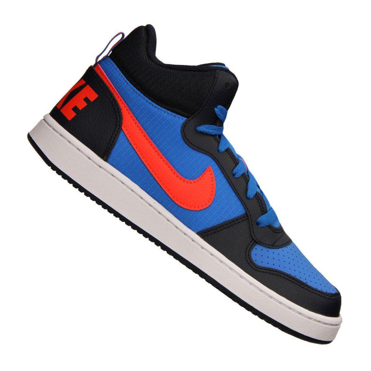 Buty Nike Court Borough Mid Jr 839977 403 Niebieskie Wielokolorowe Blue Shoes Junior Shoes Youth Running Shoes