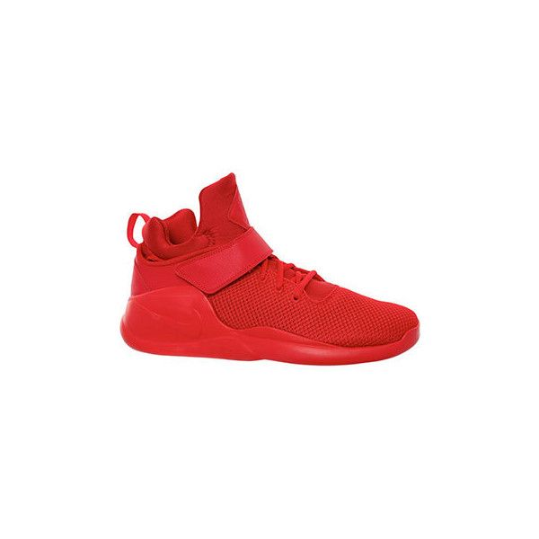 Nike Red High Top Kwazi Trainers ($64) ❤ liked on Polyvore featuring shoes,