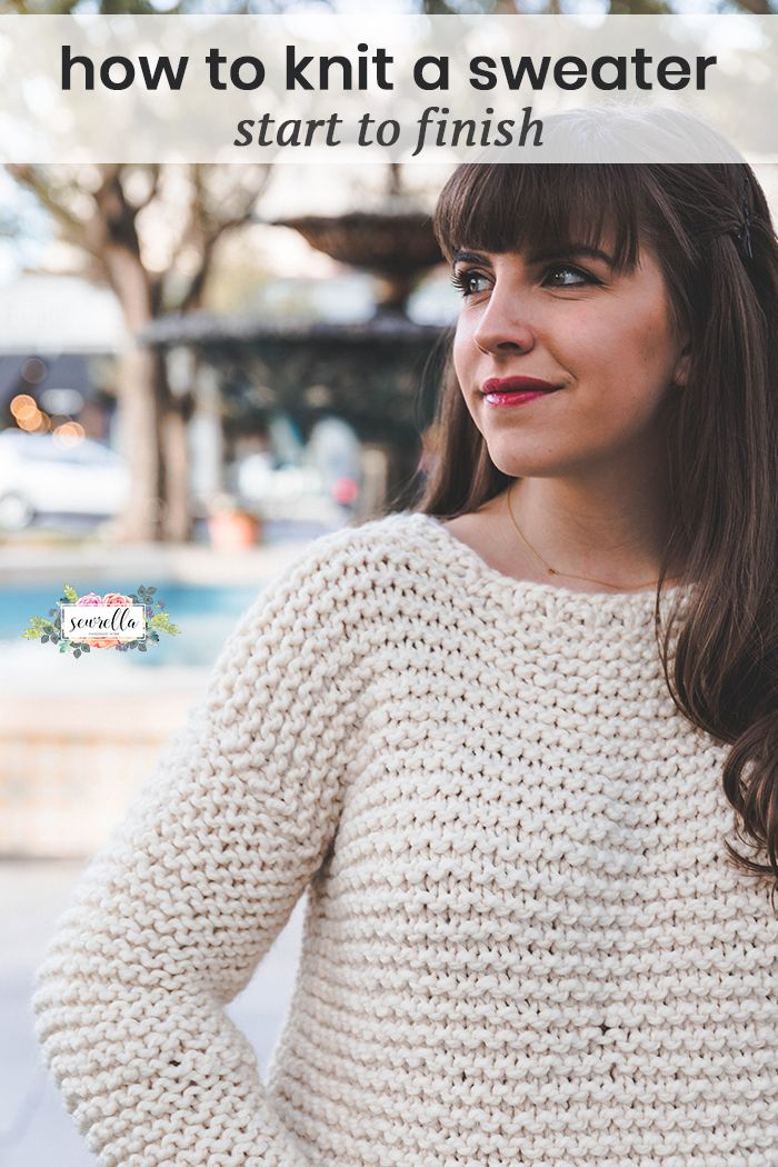 Simple Knit Sweater | Knit <3 | Pinterest