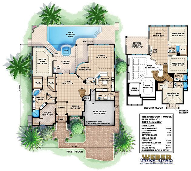 Beach House Plan 2 Story Coastal Home Floor Plan With Cabana House Plans Mansion Waterfront Homes Beach House Plans