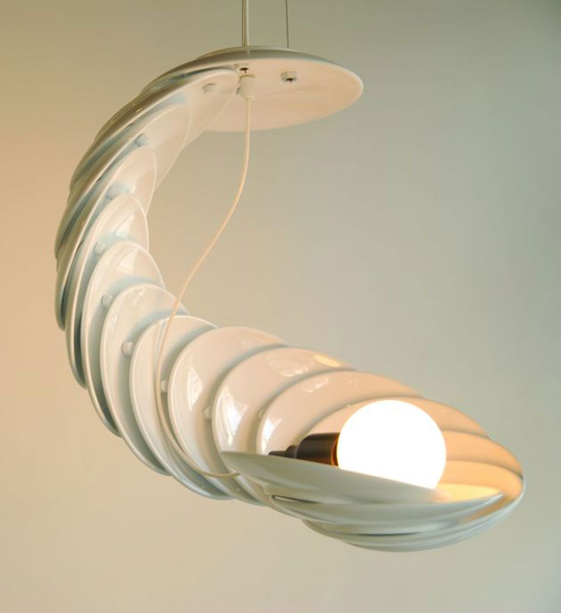 home design lighting. Anything Can Become A Lamp If You Try Hard Enough. Like These Plates. # Home Design Lighting