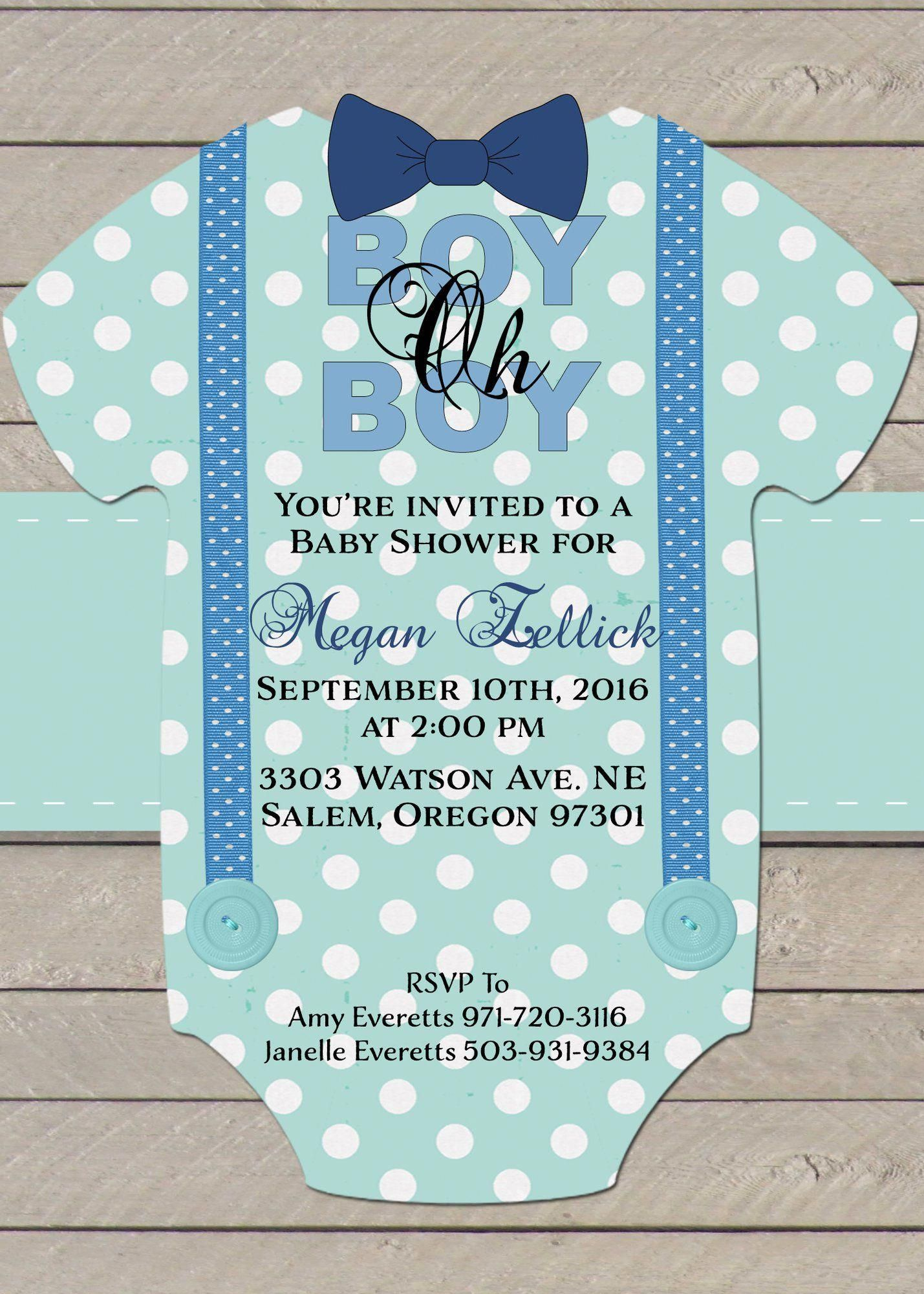 Boy Oh Boy Baby Shower Invitation Baby Shower Invitations For Boys Gold Baby Shower Invitations Baby Shower Invitations