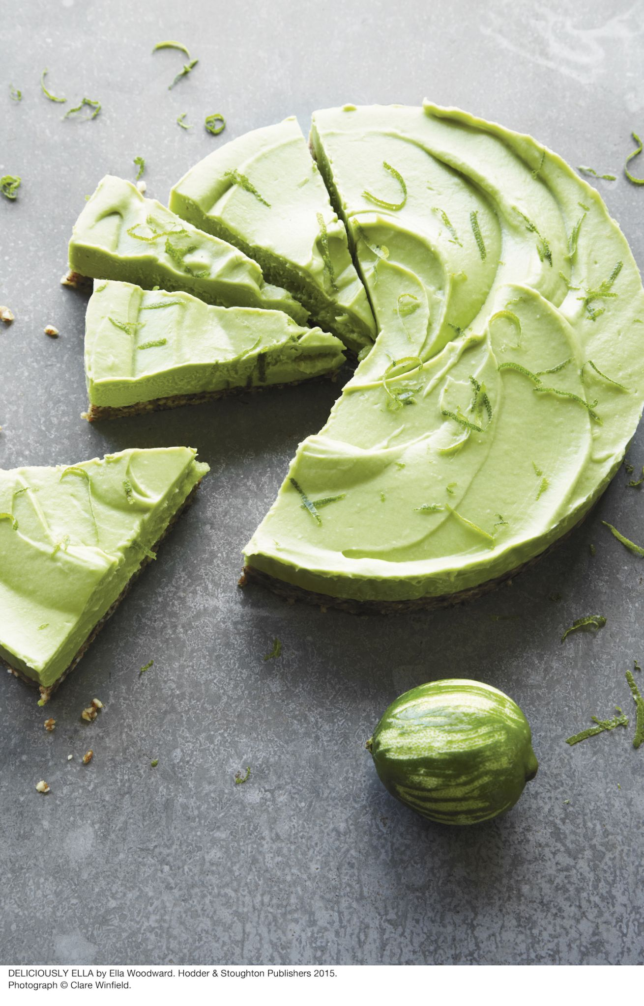 Avocado Keylime pie by Deliciously Ella Ella Woodward