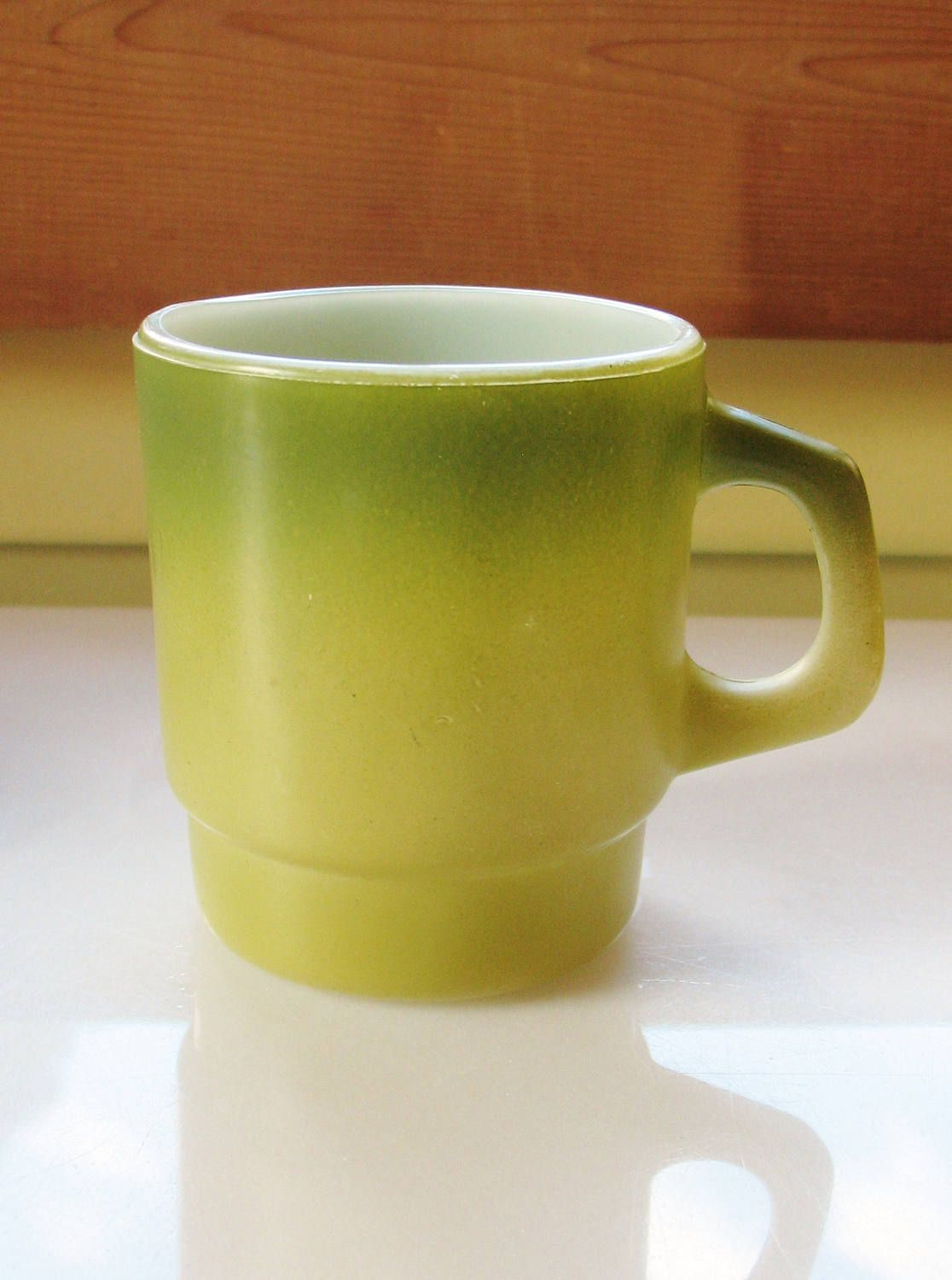 vintage avocado green anchor hocking fire king mug cup mid century  - vintage avocado green anchor hocking fire king mug cup mid century modernkitchenware by eclecticka on