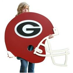 University Of Georgia Bulldogs Uga Football Helmet Wall Art Decor