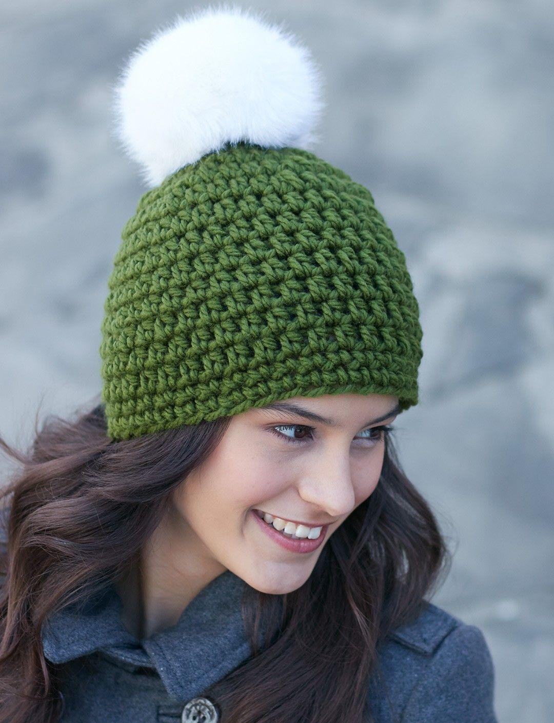 Yarnspirations Com Bernat Quick Pompom Hat Patterns