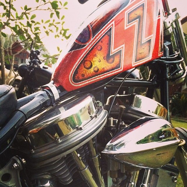 "ouan1948: "" #panhead #harley #chopper #cyclechopper #motorcycle """
