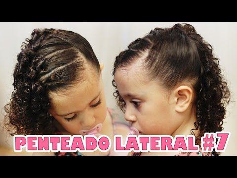 Penteado Infantil Lateral Fácil Com Ligas De Silicone 7