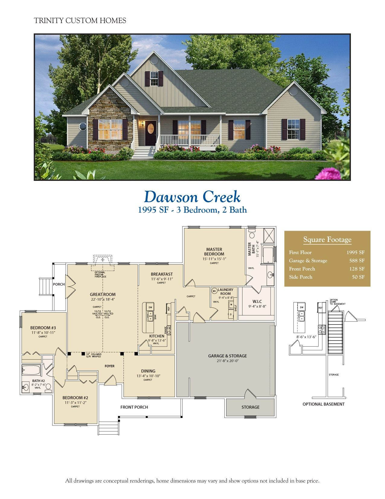 Take A Look At All Of Trinity Custom Homes Georgia Floor Plans Here We Have A Lot To Offer Craftsman Style House Plans My House Plans Modern Farmhouse Plans