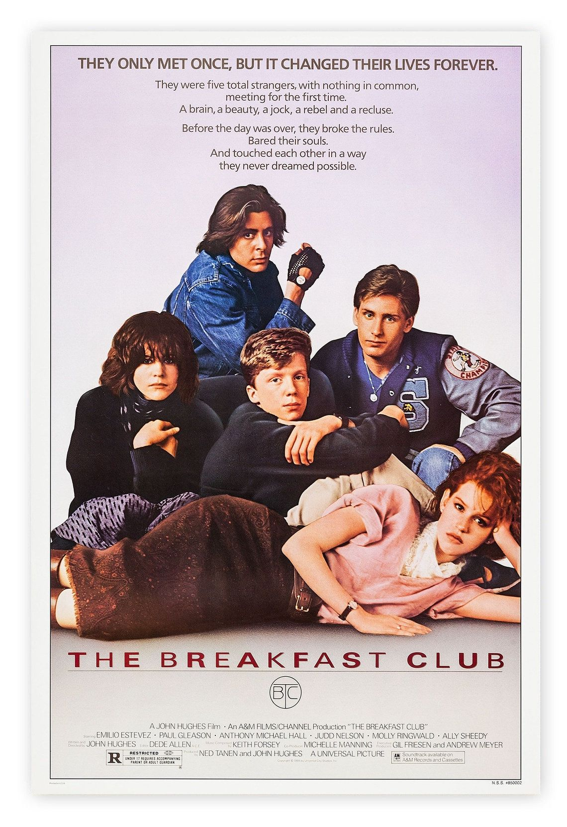 The Breakfast Club Movie Poster,classic movie,vintage movie,movie poster,Canvas poster,no frame