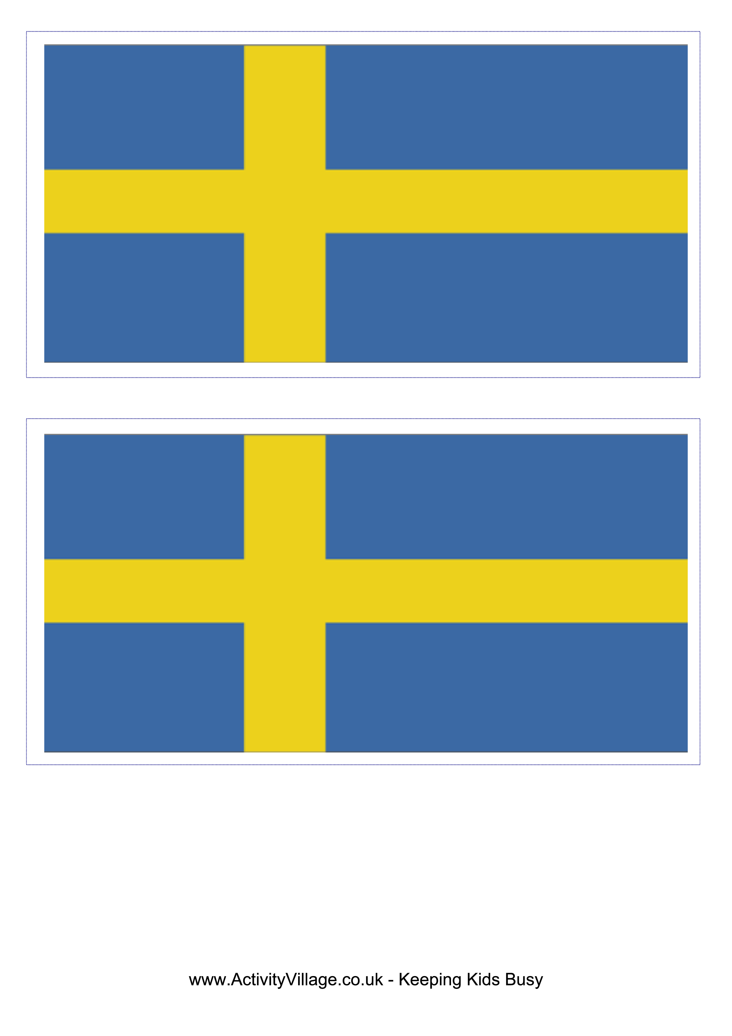 Sweden Flag Download This Free Printable Sweden Template A4 Flag A5 Flag 8 And 21 Flags On One A4page Easy To Use Sweden Flag Flag Template Flag Printable