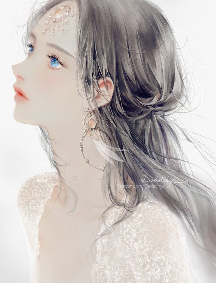 Pin Oleh Sia Lee Di Seni Manga Gadis Fantasi Gadis Animasi Lukisan Wajah