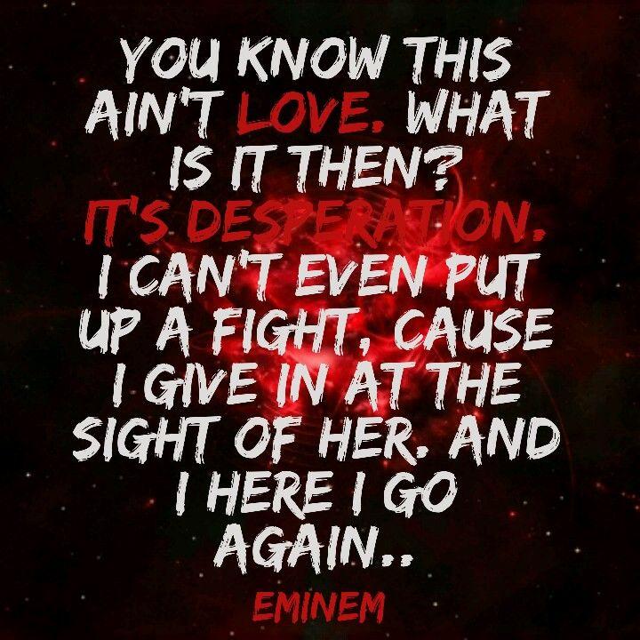Eminem feat. Jamie N Commons • Desperation | Eminem | Quotes ...