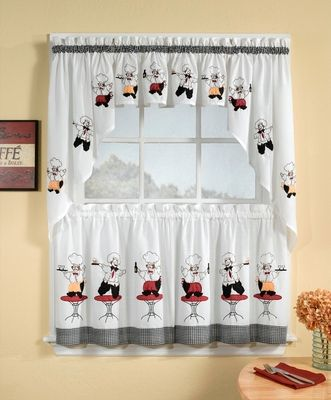 Cheers Chef Kitchen Curtain Valance In 2019 Kitchen
