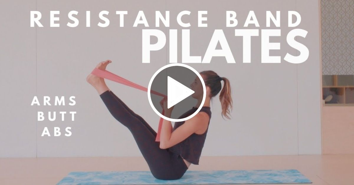 Resistance Band Pilates Workout | Arms, Butt, Abs | 15 Minute Routine | Lottie Murphy - FIT LIFE VIDEOS