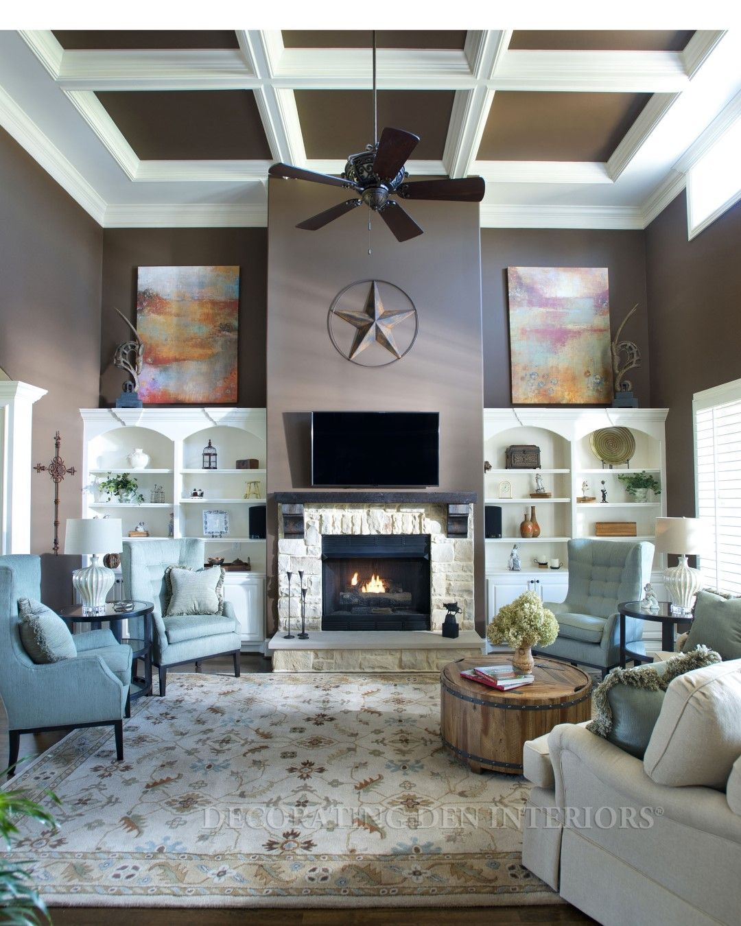 Living room designs by Decorating Den Interiors.  Want this look?  Call Decorating Den Interiors by Julie Ann to set up your FREE consultation 651-504-2080. #Design #livingroom #interiors #home #decorating #decor
