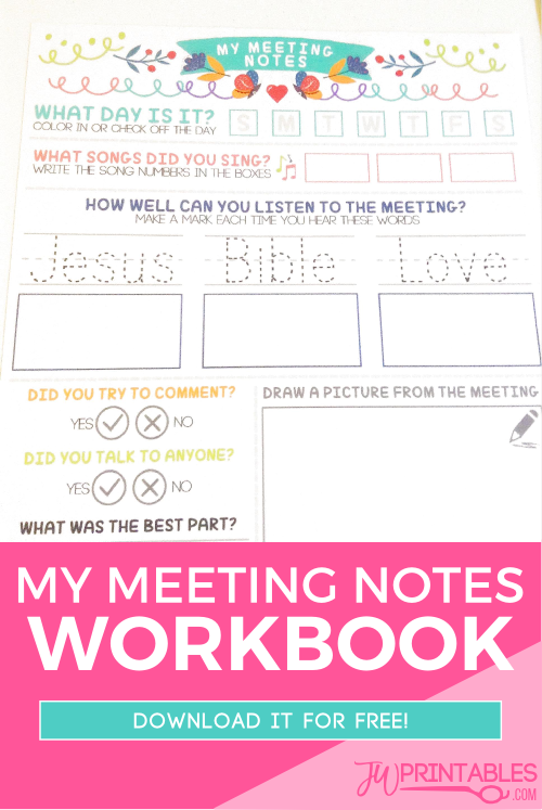 My Meeting Notes Workbook For Kids  Note Worship And Worship Ideas