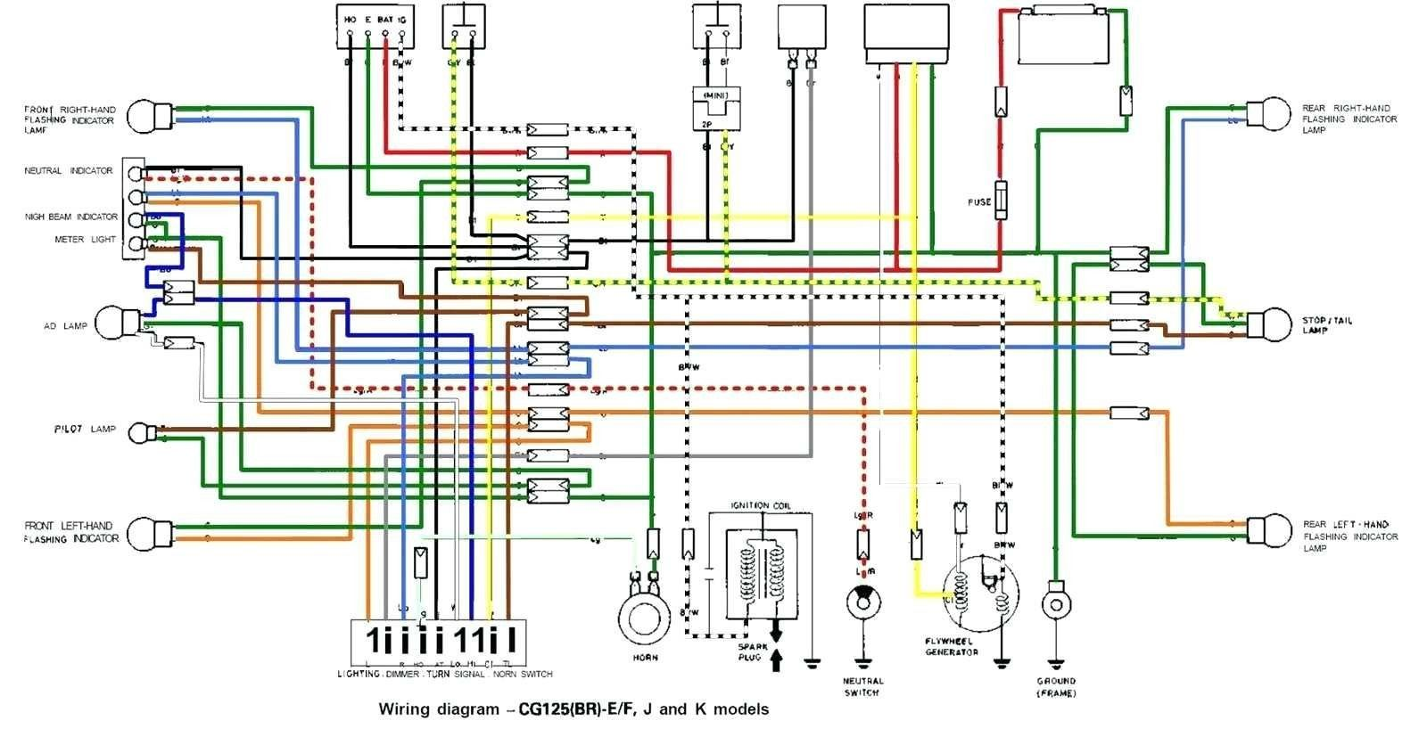 Motorcycle Wiring Diagram With Cdi Box New In 2020 Motorcycle Wiring Honda 125 Electrical Diagram