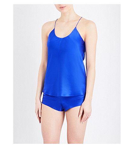 OLIVIA VON HALLE Bella Silk-Satin Pyjama Set. #oliviavonhalle #cloth #sleepwear & lingerie