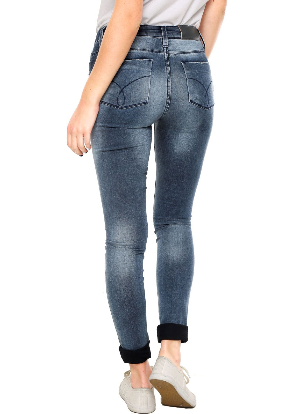 7e1252694 Calça Jeans Calvin Klein Jeans Skinny Azul - Compre Agora | Dafiti Brasil