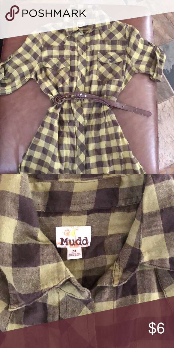 Mudd button down shirt with belt