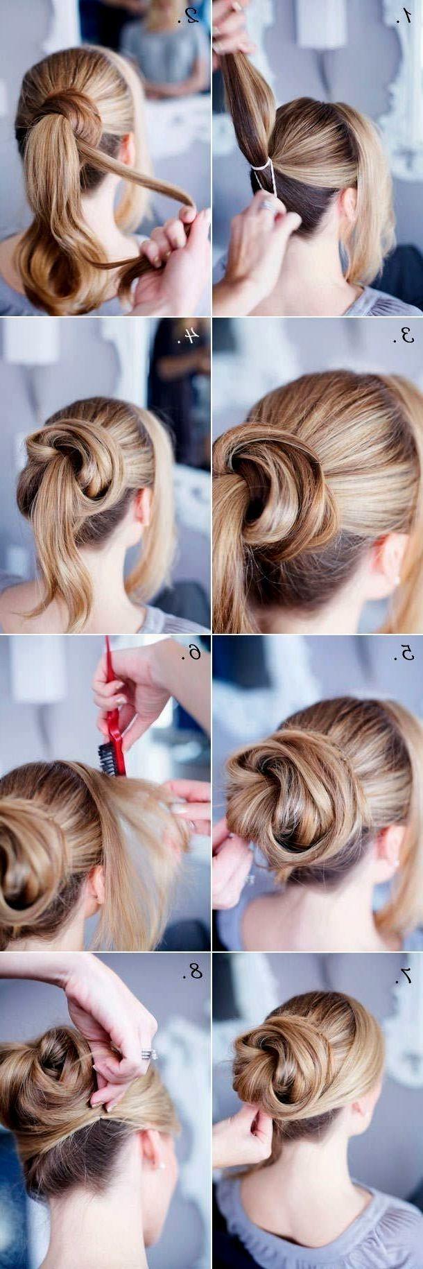 Easy Cute Updos for Medium Hair   Work hairstyles