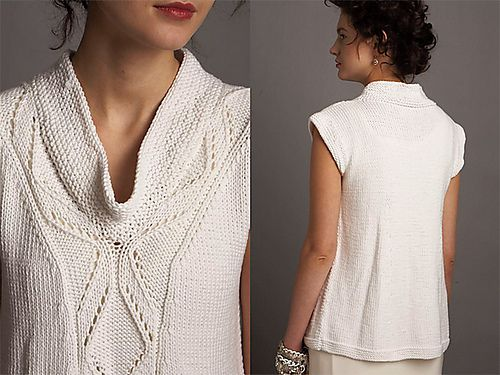 Ravelry: Project Gallery for #03 Drape Neck Top pattern by Jacqueline van Dillen