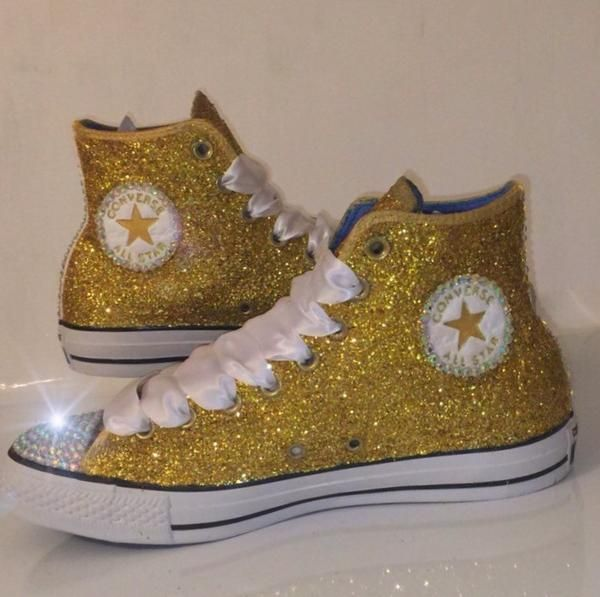 Bling shoes sneakers, Glitter converse