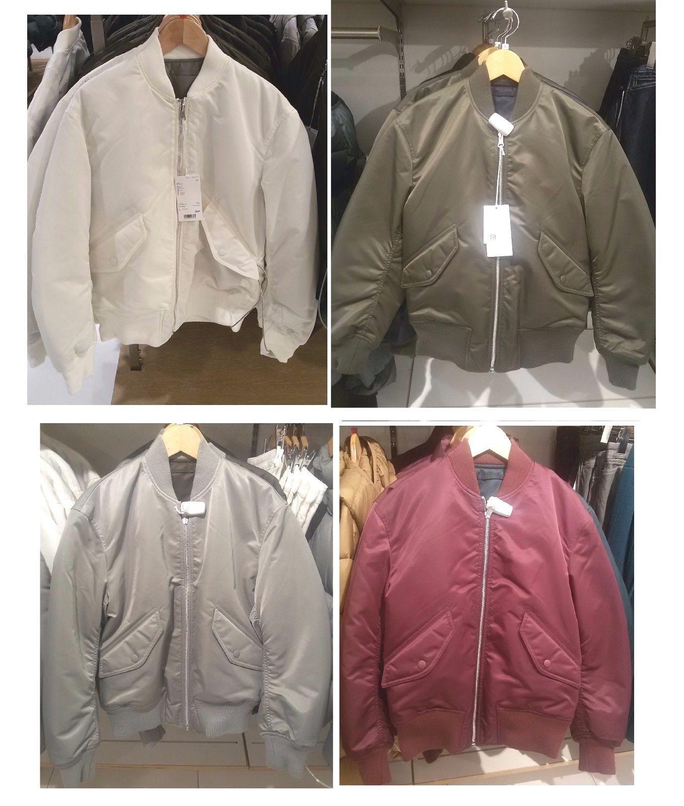 Leather jacket uniqlo - 2016 Uniqlo Women Uniqlo U Reversible Ma 1 Bomber Jacket 6 Colours