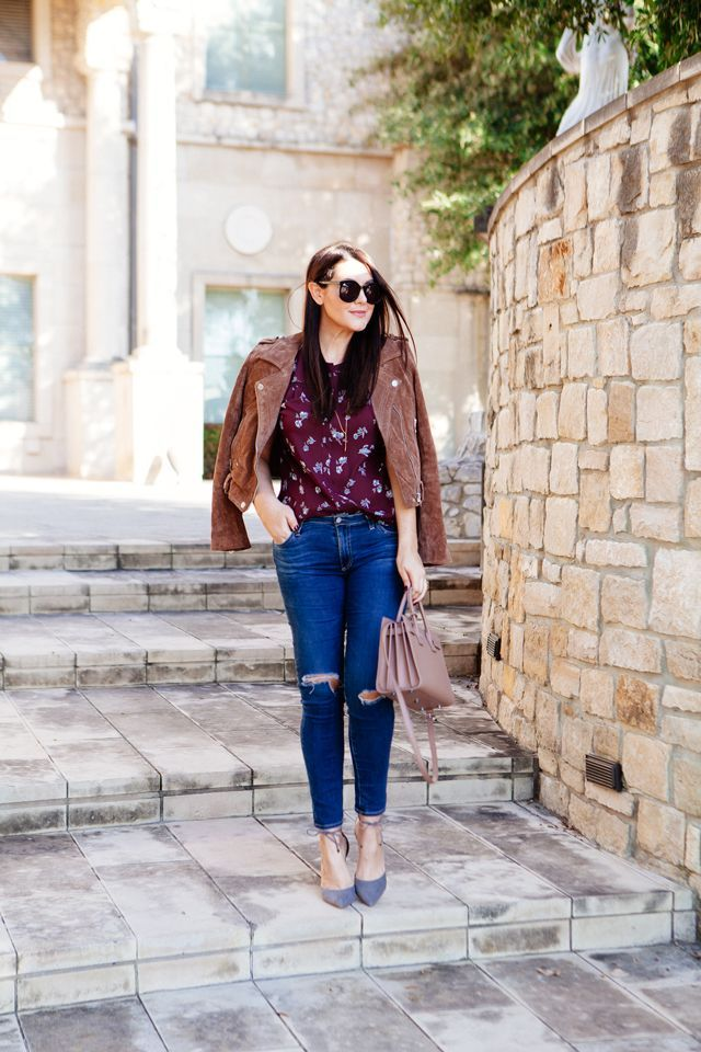 Suede and Floral