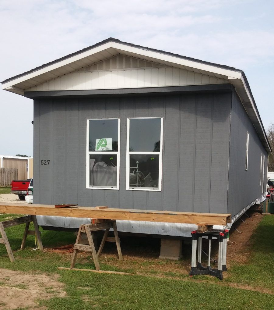 1979 single wide transformation - painted ext grey Mobile Home Siding, Mobile  Home Exteriors,