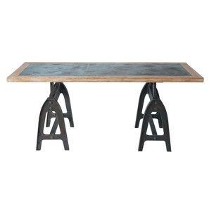 Esstisch aus Holz in antiker Metalloptik, B 200cm - Metropolitan