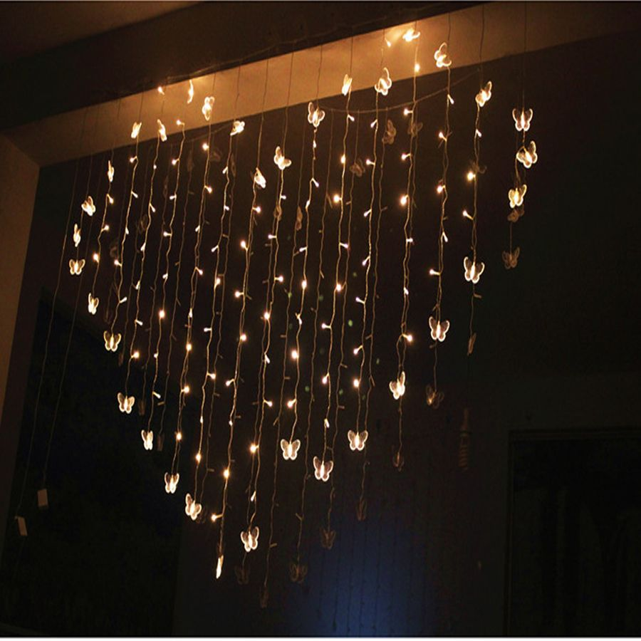 2M X 1.4M 3 W LED Heart Shaped String Lights Valentineu0027s Day Indoor And