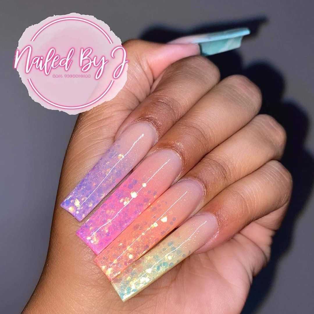 Glitterbels Posted On Their Instagram Profile Weekly Ambassador S Challenge So This Week It Is Nail In 2020 Glamour Nails Long Square Nails Cute Acrylic Nails