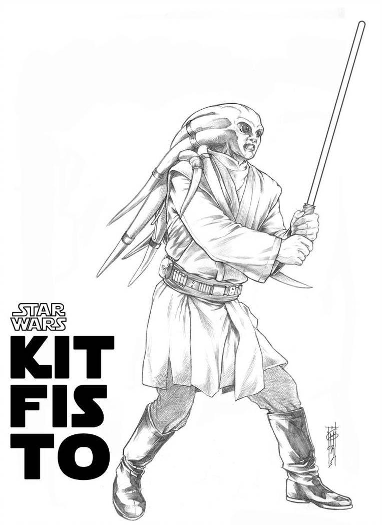 Kit Fisto By Thegerjoos Star Wars Drawings Amidala Star Wars Star Wars Trooper