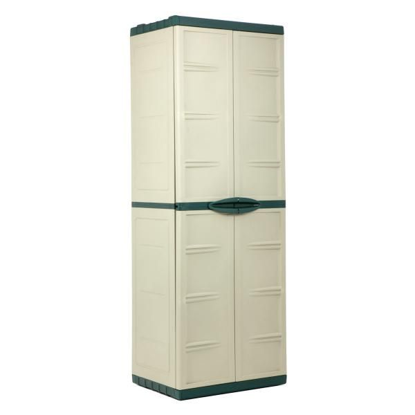 These stylish plastic storage cabinets are very pleasing. They ...