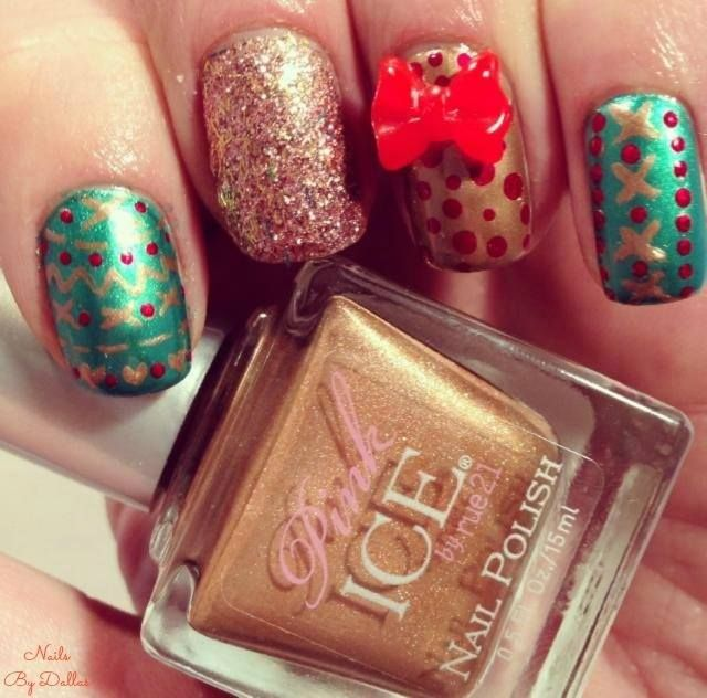 No Ugly Christmas Sweater here! Shop nails at http://www.rue21.com/store/jump/category/Nails/cat30026