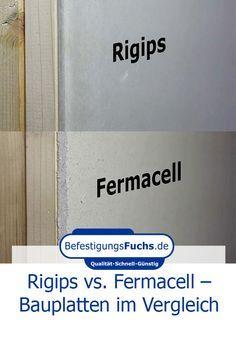 Rigips vs. Fermacell - Bauplatten im Vergleich #remodelingorroomdesign