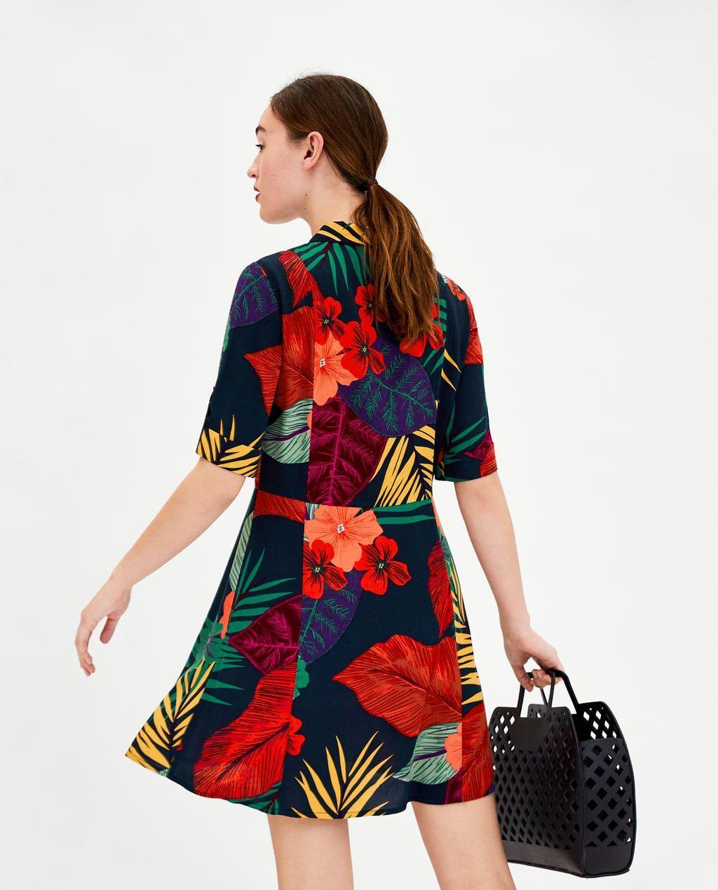 9d7c8ffca4 Image 3 of FLOWER SHIRT DRESS from Zara