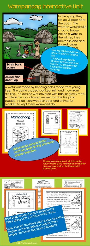 Wampanoag Interactive Unit Interactive student notebooks