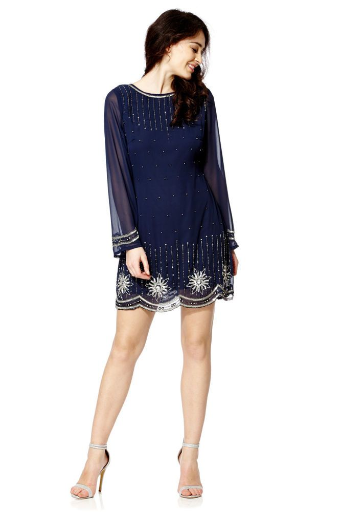 New 1920/'s Gatsby fully embellished shift Flaper Dress from size 8 to PLUS SIZES