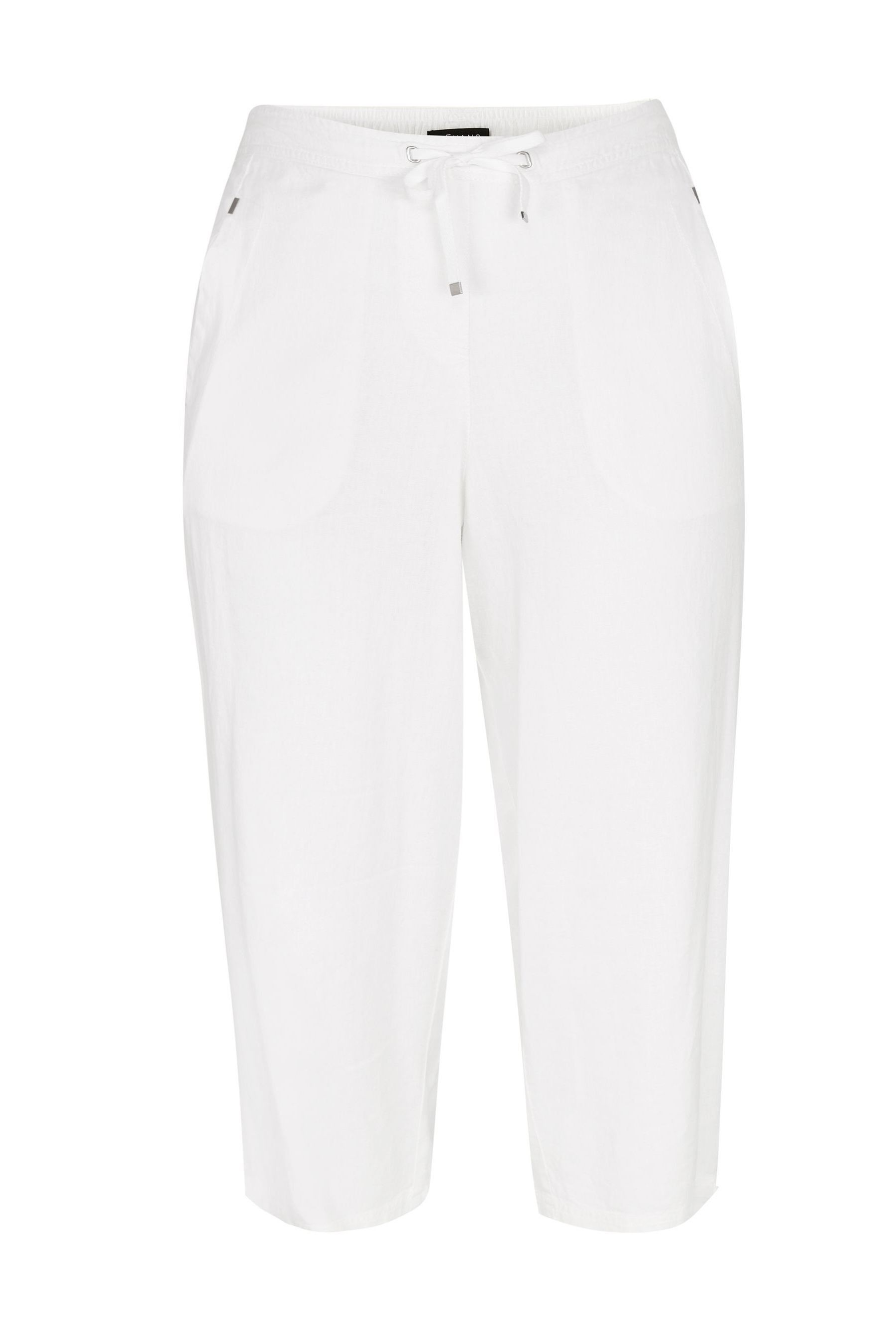 wholesale sales super cheap great prices Evans Curve White Linen Blend Crop Trouser | Cropped trousers ...