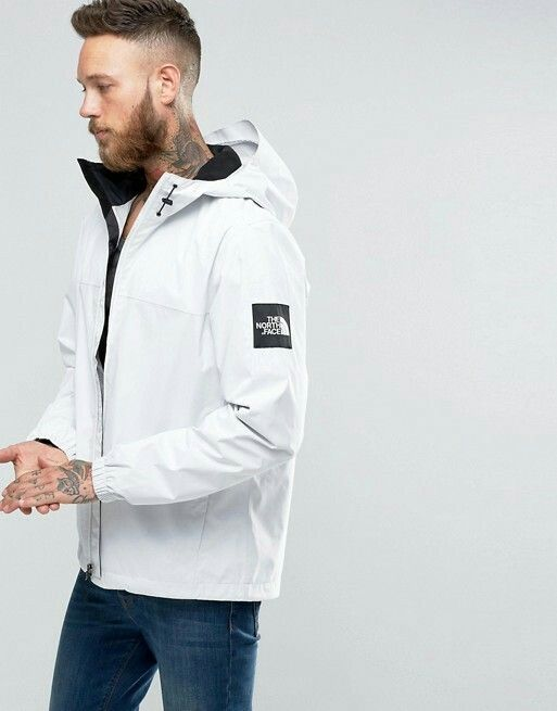 The Northface Mountain Q White | North face jacket, Jackets