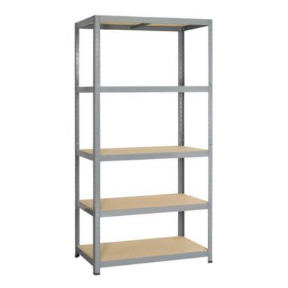 B Q Strong 5 Tier Shelving Unit H 1770 X W 900mm 5400431609004 Metal Shelving Units Steel Shelving Unit Metal Shelves