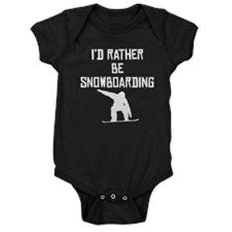 Id Rather Be Snowboarding Baby Bodysuit on CafePress.com